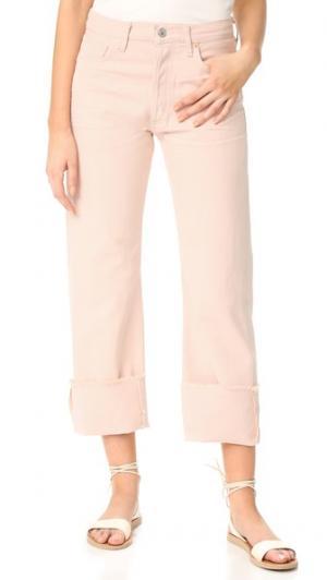 Укороченные свободные джинсы Parker с манжетами Citizens of Humanity. Цвет: розовый кварц