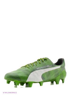 Бутсы evoSPEED SL Grass FG Puma. Цвет: зеленый
