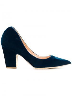 Туфли-лодочки с бархатной текстурой Rupert Sanderson. Цвет: синий