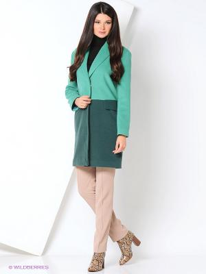 Пальто DEMURYA. Цвет: зеленый
