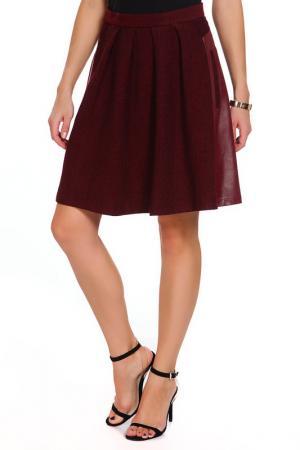 Юбка Gloss. Цвет: коричнево-бордовый