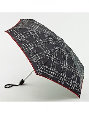 Зонт механический Надписи  by Fulton Lulu Guinness. Цвет: черный