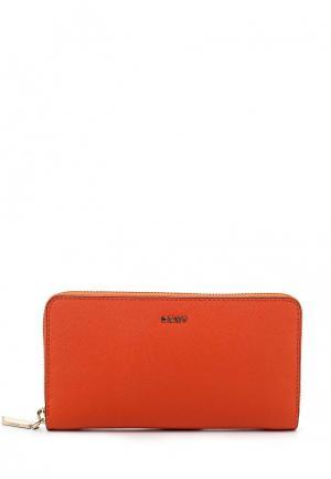 Кошелек DKNY. Цвет: оранжевый