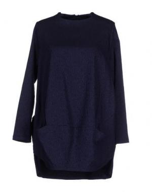 Короткое платье CORINNA CAON. Цвет: темно-синий