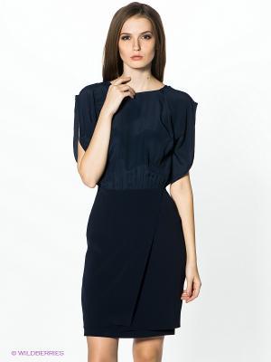 Платье PINKO. Цвет: темно-синий