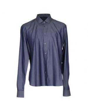 Джинсовая рубашка JOHN VARVATOS. Цвет: синий