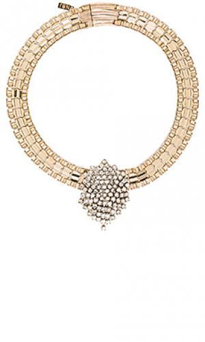 Чокер monroe Natalie B Jewelry. Цвет: металлический золотой