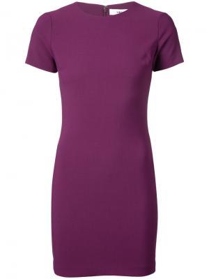 Короткое платье-кокон Likely. Цвет: розовый и фиолетовый