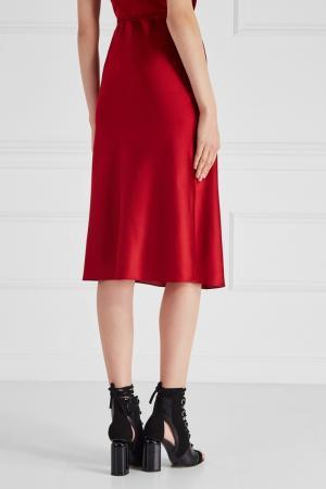 Шелковая юбка Ruban. Цвет: красный