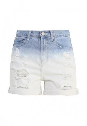 Шорты джинсовые Glamorous. Цвет: белый