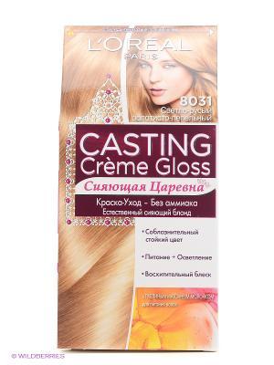 Стойкая краска-уход для волос Casting Creme Gloss без аммиака, оттенок 831, Cветло-русый золотисты L'Oreal Paris. Цвет: золотистый