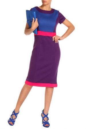Платье Aftershock. Цвет: фиолетовый, голубой, розовый