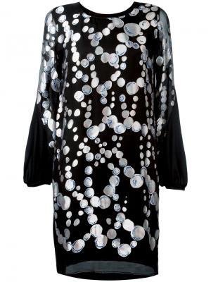 Платье с узором из кругов Tsumori Chisato. Цвет: чёрный