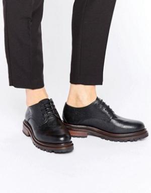 Hudson London Туфли на шнуровке H By Hollin. Цвет: черный