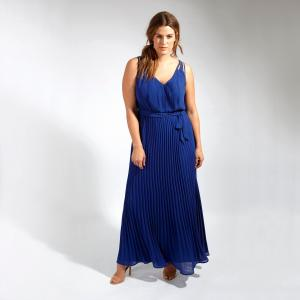 Платье длинное LOVEDROBE. Цвет: синий