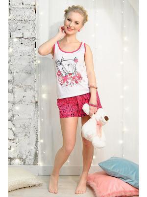 Домашний костюм Vivien. Цвет: розовый, белый