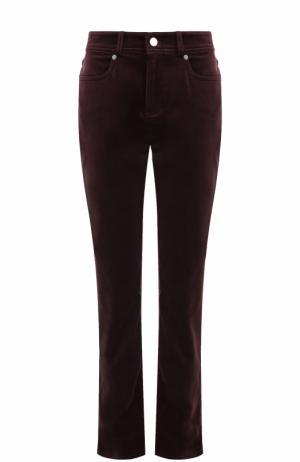 Укороченные бархатные джинсы прямого кроя Loro Piana. Цвет: фиолетовый