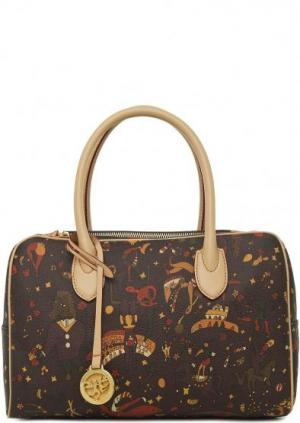 Коричневая сумка со съемным плечевым ремнем Piero Guidi. Цвет: коричневый