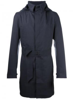 Однобортное пальто Norwegian Rain. Цвет: синий