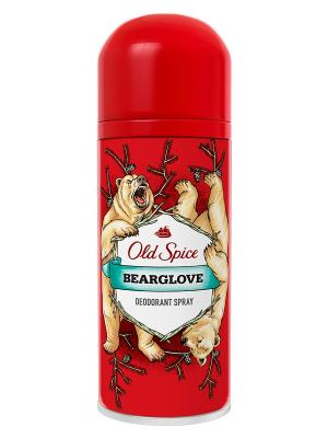 Аэрозольный дезодорант-антиперспирант Bearglove, 125мл OLD SPICE. Цвет: красный