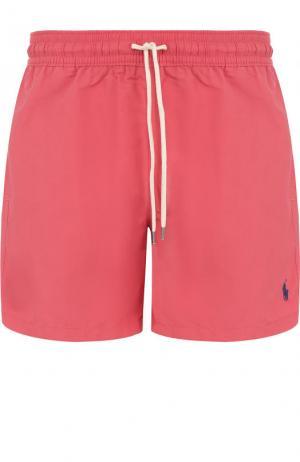 Плавки-шорты с карманами Polo Ralph Lauren. Цвет: розовый