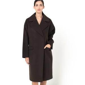 Пальто большого размера La Redoute Collections. Цвет: каштановый