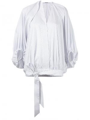 Блузка с присборенными  рукавами Chalayan. Цвет: белый