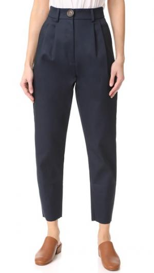 Узкие брюки с высокой талией A.W.A.K.E.. Цвет: темно-синий