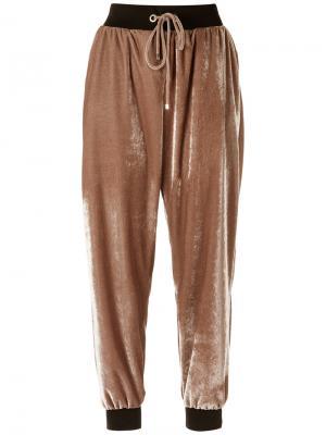 Velvet jogging trousers Olympiah. Цвет: телесный