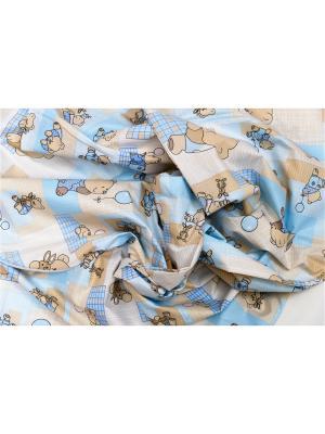 Наволочка Мишки-Малышки, Г 230х35 БИОСОН. Цвет: голубой, бежевый