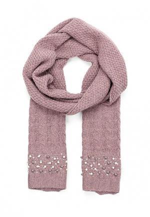 Комплект шапка, шарф и перчатки Vitacci. Цвет: фиолетовый