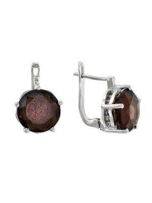 Серьги BALEX. Цвет: коричневый, серебристый