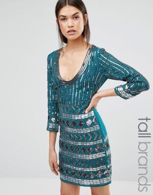 Maya Tall Платье. Цвет: зеленый