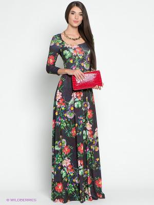 Платье Colambetta. Цвет: черный, зеленый, фиолетовый