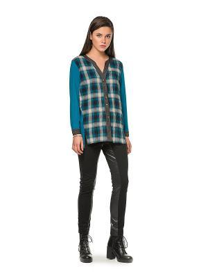 Блузка HELMIDGE. Цвет: бирюзовый, серый