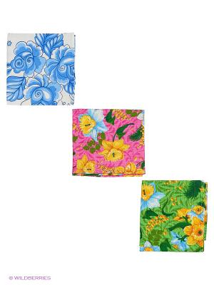 Набор полотенец кухонных 3 шт. Метиз. Цвет: зеленый, розовый, синий