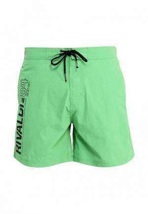 Шорты для плавания Rivaldi. Цвет: зеленый