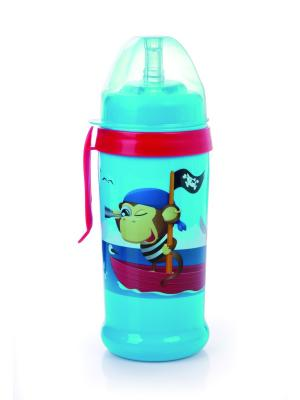 Поильник-непроливайка спортивный с трубочкой и крышкой, 350 мл, 12+, цвет: синий Canpol babies. Цвет: синий