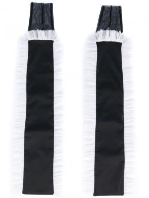Удлиненные перчатки Murmur. Цвет: чёрный