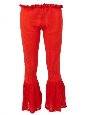 Расклешенные брюки Helen Lawrence. Цвет: красный