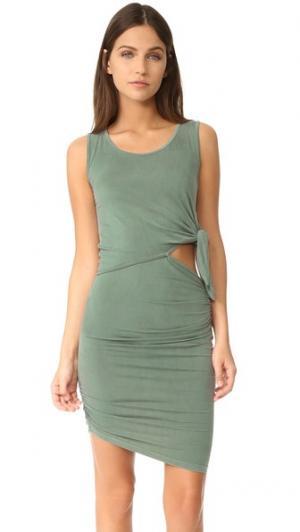 Платье с Санти Young Fabulous & Broke. Цвет: оливково-зеленый