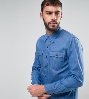 Levis Синяя джинсовая рубашка Orange Tab. Цвет: синий