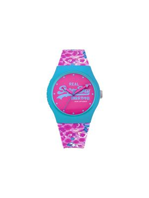 Часы Superdry. Цвет: голубой