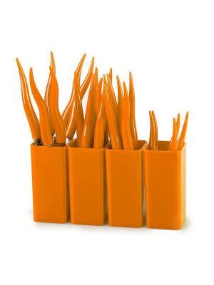 Столовые приборы CHILI 24 предмета MOULINvilla. Цвет: оранжевый