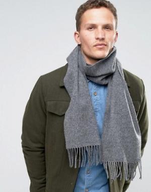 Glen Lossie Серый шарф из овечьей шерсти. Цвет: серый