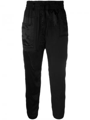 Зауженные брюки Haider Ackermann. Цвет: чёрный