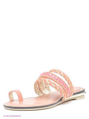 Пантолеты Daze. Цвет: коралловый, розовый, золотистый