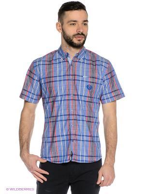 Рубашка Mavango. Цвет: синий, белый, красный