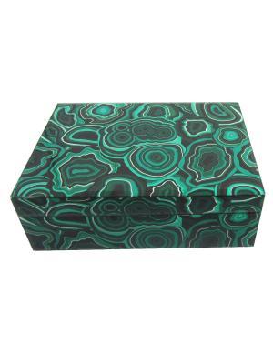 Шкатулка Малахит (21x13x8,5см, из стекла для мелочей) Magic Home. Цвет: зеленый