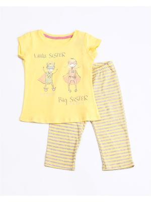 Пижама: футболка, бриджи Mark Formelle. Цвет: серый, желтый